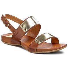 Sandały CARINII - B2048  Brąz/Złoty