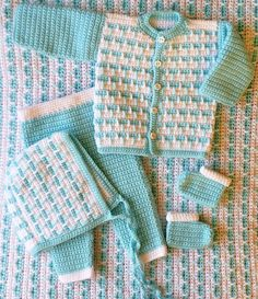 5 piece baby set free crochet pattern