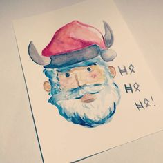 Ho! Ho! Ho! From our writer&artist Diana! Happy Yule time! #xmas #vikings #cards #indiegames