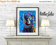 60% Off Today- Weimaraner Art Dog poster print of painting Heather Galler (HG886)
