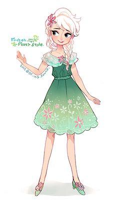 Elsa <---- I want that dress!!!! It's so cute!!!! I LOVE IT!!!