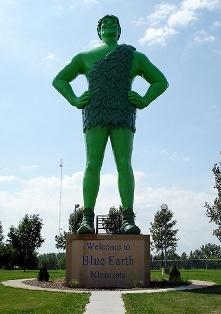 Blue Earth, Minnesota   Jolly Green Giant statue
