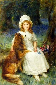 """George Sheridan Knowles (British, 1863-1921) - """"In Wonderland"""""""