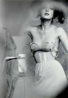 Saul Leiter-Test shot for lingerie, Harper's Bazaar , 1955
