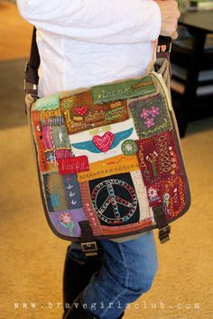 Patrice's Brave Girl bag...FEATURED in the newest issue of HAUTE BAGS!!!