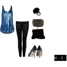 Cute! This is a girls night outfit definitely!