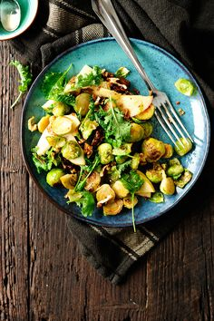 serving dumplings | garlicky-brussels-sprouts-salad