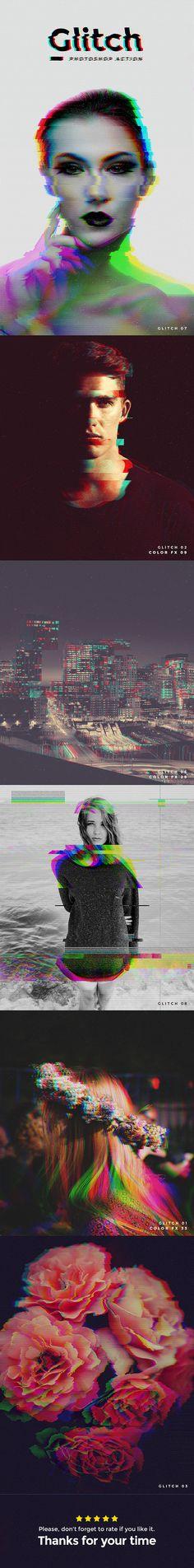 Glitch Photoshop Action: Photo Effects Photoshop created by Actions Photoshop, Photoshop Effects, Photoshop Tutorial, Photography Editing, Photography Tutorials, Art Photography, Photo Editing, Popular Photography, Photomontage