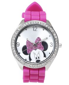 Minnie Mouse Rubber Watch - Watches from Wet Seal Minnie Mouse Watch, Minnie Mouse Pink, Mickey Mouse, Rubber Watches, Fandom Outfits, Disney Addict, Disney Jewelry, Disney Merchandise, Disney Style