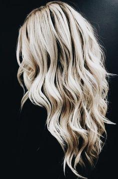 long blonde hair wand curls
