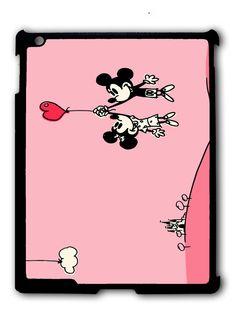 Happy Valentines Day Disney mickey minnie mouse iPad case, Available for iPad 2, iPad 3, iPad 4 , iPad mini and iPad Air