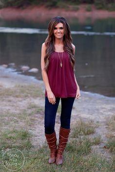 $16.99 | The Kendyl Blouse Tank- In Fall Colors! | Grab this boutique deal on Jane.com!