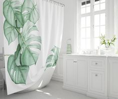 Zen Decor Hand Painted Fishes And Lotus Bathroom Fabric Shower Curtain Set 71in