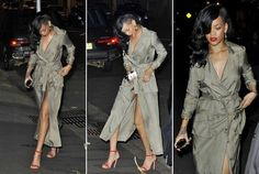 [PIC] Rihanna dines nearly nude [no literally]