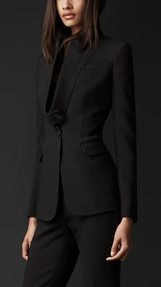 Fitted jacket with lapels detached | Burberry