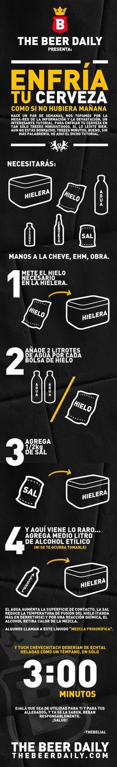 COMO ENFRIAR LA CERVEZA EN UNA NEVERA CON HIELO EN 3 MINUTOS // #PlazaCanterbury #cerveza