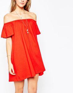 ASOS | ASOS Gypsy Off Shoulder Mini Dress at ASOS
