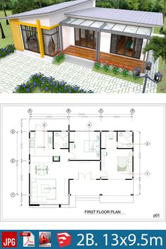 Plan Interior Design House Plans Full Plan - SamPhoas Plan Plan Interior Design House Plans Full Plan - SamPhoas Plansearch The decoration of the house is like an. Simple House Plans, Dream House Plans, House Floor Plans, Simple Floor Plans, House Front Design, Small House Design, Modern House Design, Cabin Design, 3d Interior Design