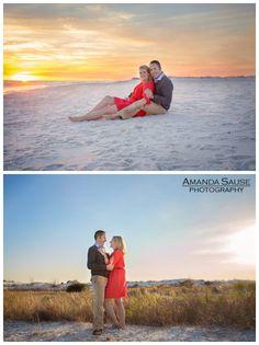 Destin beach engagement photography