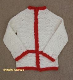 This jacket is crocheted for my 7 years old daughter