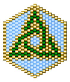 2 bracelet patterns in odd count peyote and 2 pin patterns in brick stitch for Saint Patrick's Day. - Saint Patrick's Day Patterns - Beadwork at BellaOnline Bead Crochet Patterns, Beading Patterns Free, Seed Bead Patterns, Beaded Jewelry Patterns, Peyote Patterns, Loom Patterns, Brick Stitch Patterns, Beaded Beads, Bead Earrings