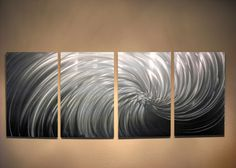 Metal+Wall+Art+Decor+Abstract+Contemporary+Modern+by+InspiringArt,+$160.00