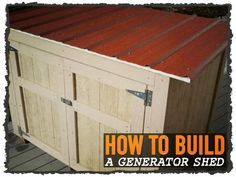Generator Enclosure Diy Beautiful How to Covert A Table Fan Into A Wind Generator the Do It Yourself. Generator Shed, Landscaping Retaining Walls, Home Security Tips, Storage Shed Plans, Diy Shed, Power Outage, Building A Shed, A Table, 3d Printing