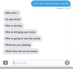 They always send you a series of questions.