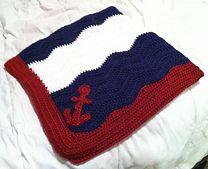 Ravelry: Sailor Ripple Baby Blanket pattern by Kat McGinness. Free crochet pattern.