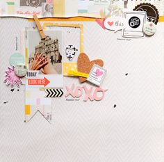 #papercrafting #scrapbook #layout   Travel Journal by geekgalz at @studio_calico