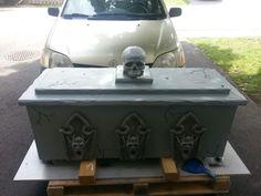 My new fog chiller Halloween Coffin, Halloween Graveyard, Halloween Projects, Halloween Crafts, Chill, Holidays, Outdoor Decor, Ideas, Holidays Events