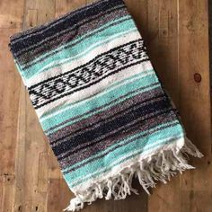 Turquoise Mexican Blanket *NEW* Brand new! Turquoise Mexican blanket! Measures approx 68 inches by 48 inches! NO TRADES Accessories