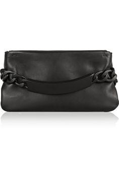Maison Martin Margiela|Chain-embellished leather clutch|NET-A-PORTER.COM