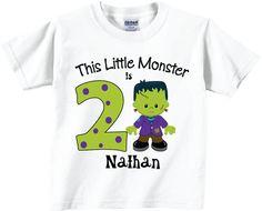 Halloween Birthday Shirts With Little Frankenstein Tees