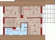 Projekt domu AC Lea (wersja B) CE - DOM - gotowy koszt budowy Floor Plans, House, Home, Haus, Floor Plan Drawing, Houses, House Floor Plans