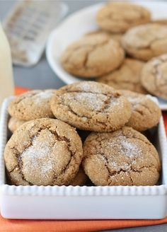 Pumpkin Gingersnap Cookie Recipe on twopeasandtheirpod.com  A must make for fall!