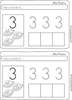 Atividade Numeral 3 Coordenação Motora Fina Pontilhado | Ideia Criativa - Gi Barbosa Educação Infantil