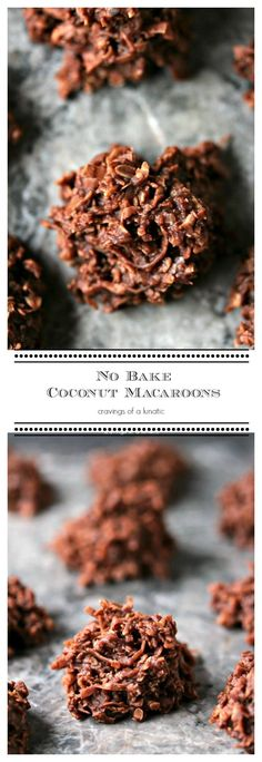 No Bake Coconut Macaroons | Simple, quick No Bake Cookies that will impress your guests without them ever guessing they took you about 10 minutes. Score!