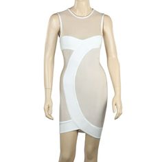 Aliexpress.com : Buy New Arrival August 2013  Apricot Chiffon Small O Neck Sheath Celebrity Bandage Dress   Wholesale Lower Discount Free Shipping from Reliable bandage dress suppliers on High Quality Celebrity Dresses $56.00