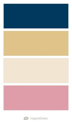 Navy, Gold, Champagne, and Blush Wedding Color Palette - custom color palette created at MagnetStreet.com