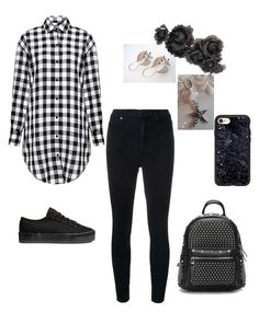 """Black & White"" by keepsakedesignbycmm ❤ liked on Polyvore featuring IRO, Nobody Denim, Casetify, Gucci and jewelry"