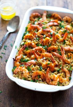 Garlic Butter Shrimp Quinoa | 23 Make-Ahead Meals To Freeze Before You Have That Baby