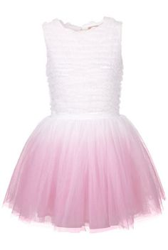 **Dip Dye Ruffle Prom by Dress Up Topshop - Dresses  - Apparel  - Topshop USA