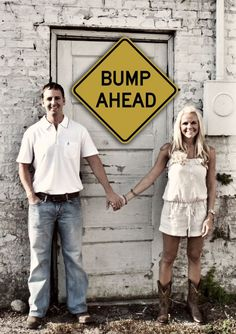 haha awe Cute idea for a baby announcement photo!