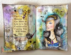 Jamie Dougherty Designs: Emily Art Journaling with Carisa