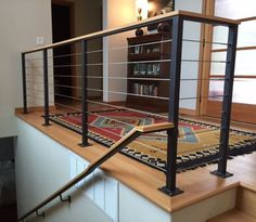 Get These Top Trending easy stair railing ideas that look beautiful Basement Stairs basementsta Beautiful Easy ideas railing stair Top Trending Stair Railing Design, Staircase Railings, Railing Ideas, Hand Railing, Modern Stair Railing, Bannister, Loft Railing, Small Staircase, Staircase Landing