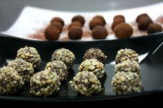 τρουφάκια σοκολατένια σαν πλασμένα από πηλό - Pandespani.com Mood, Chocolate, Breakfast, Chocolates