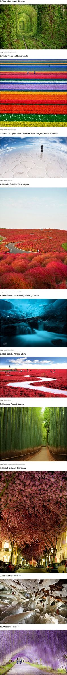 10 of the most unbelievable places on Earth