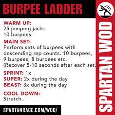 Spartan WOD - Burpee Ladder