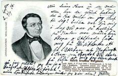 Postkort med Henrik Arnoldius Wergeland Svensk utgivelse brukt 1906 Abraham Lincoln, Ads